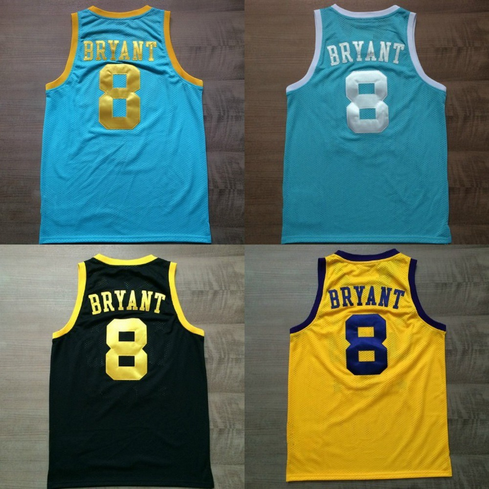 5f4079d72c76 ... Online Shop Kobe Bryant Jersey Retro 8 Basketball Jersey Top Quality Kobe  Bryant Shirts Jersey Top ...