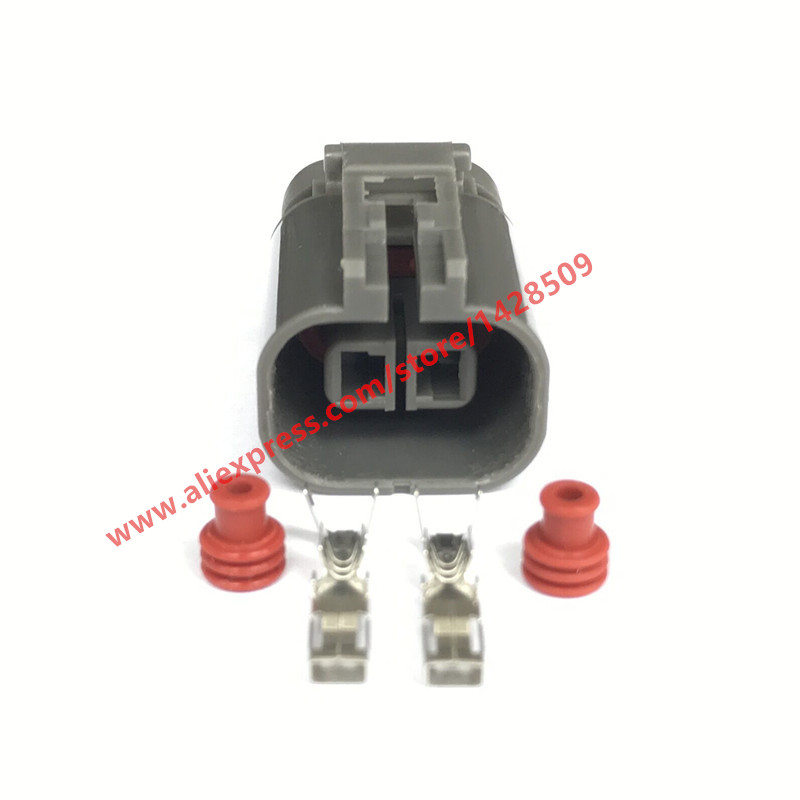 5 Sets Female Fan Socket For Car Automotive Connector 2 Pin Auto Plug With Terminals And Seals