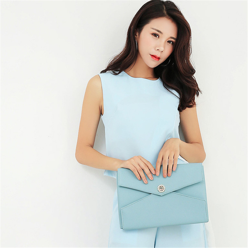 11.6 12 13.3 14 15.4 Inch Laptop Sleeve Women PU Leather Clutch Bag Korean Style Fashion Liner Pouch for Macbook Air Pro