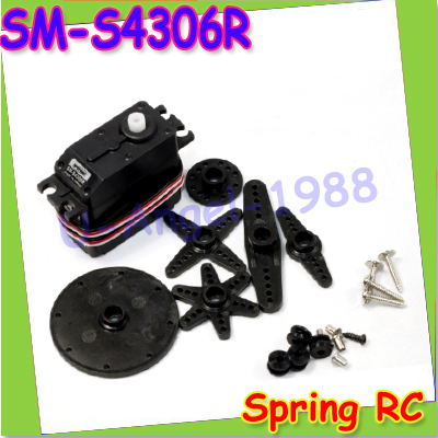 1pcs Spring RC JR interface 360 with Robot RC Servo SM-S4306R S4306R R/C gear