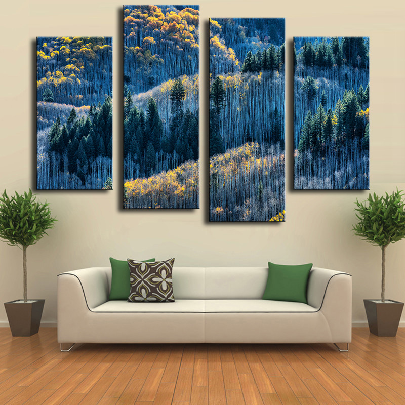 Wall Art Cuadros 4 Piece Garden Of The Gods Wall Painting Print On Canvas For Home Decor Ideas Paints Pictures Art No Framed