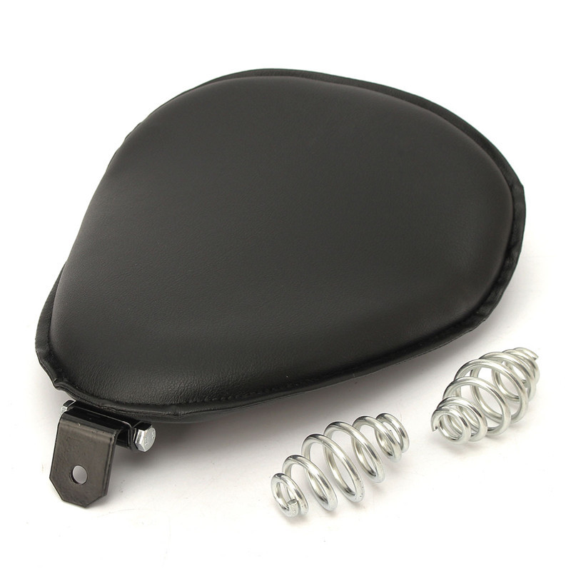 1Pcs Motorcycle Driver Leather Pillow solo Seat Cushion for Harley Chopper Bobber HD Solo Seat