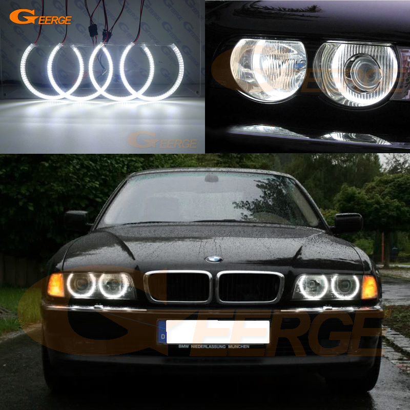 For BMW E38 740i 750i 730d 740d 728i 1995 2001 XENON headlight Excellent smd led angel eyes Ultra bright SMD led Angel Eyes kit