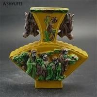Direct sales retro embossed figure Eight Immortals figure antique vase antique porcelain collection classical ornaments
