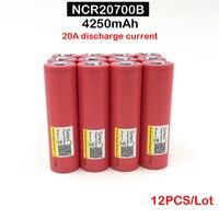 20700 Аккумулятор для Sanyo 20700B 4250 мАч NCR20700B аккумулятор высокой скорости 20A 20700 мощный инструмент и vape мод 12 шт