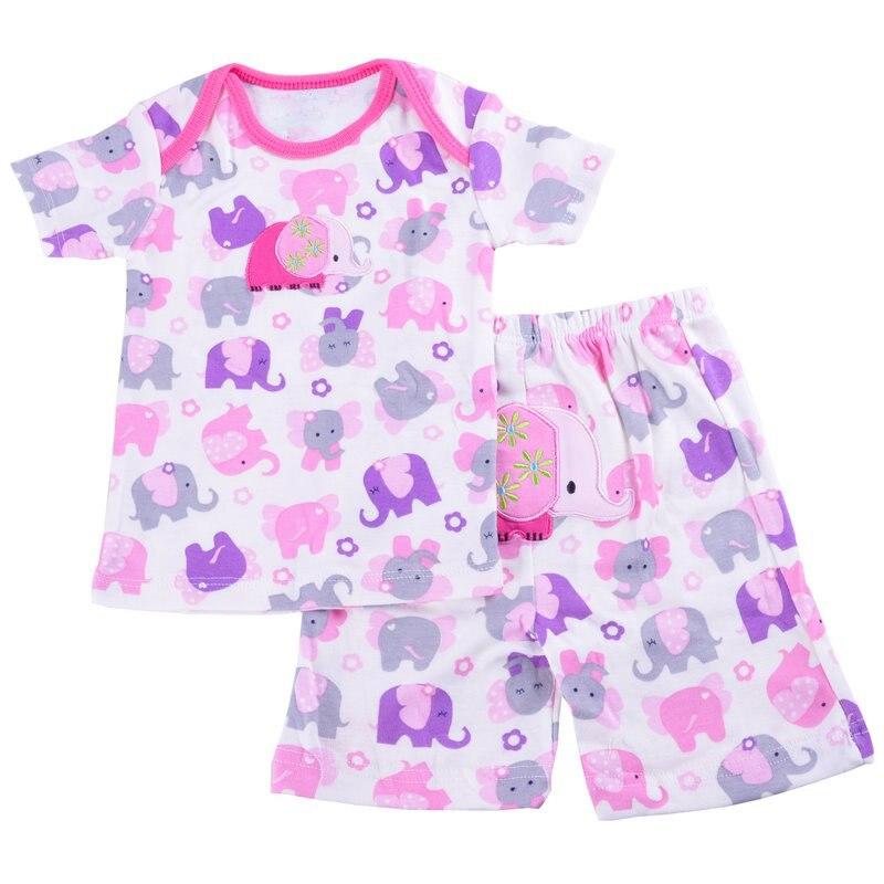 НОВЫЕ комплекты для малышей, 2 футболки с короткими рукавами+ 2 короткие штаны, футболки и шорты для мальчиков и девочек, хлопковые топы, 3 мес.-24 мес