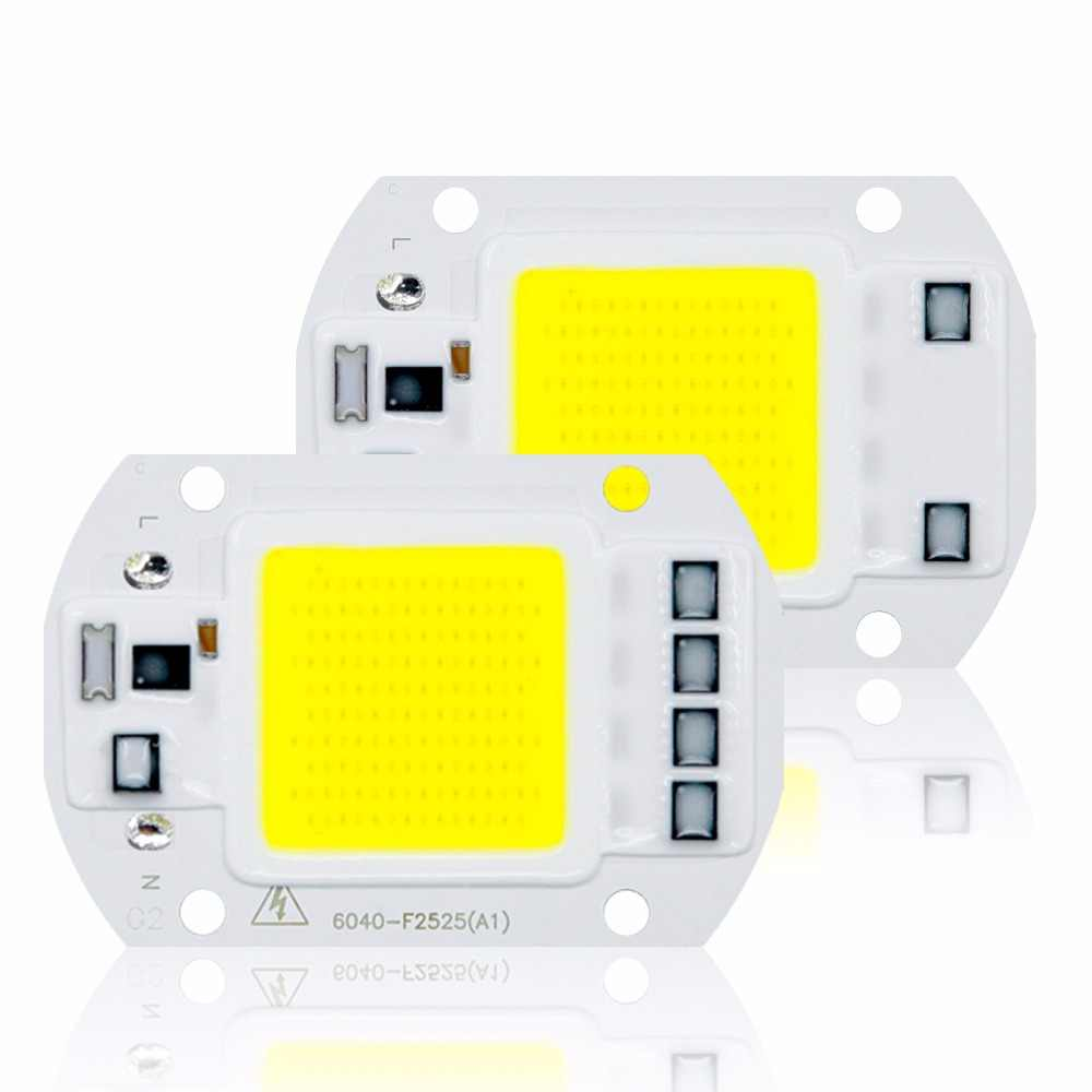 COB LED Lamp Chip AC 220V No Need Driver Smart IC Ampoule LED Bulb Flood Light Spotlight 5W 10W 20W 30W 50W Diy Light Lighting