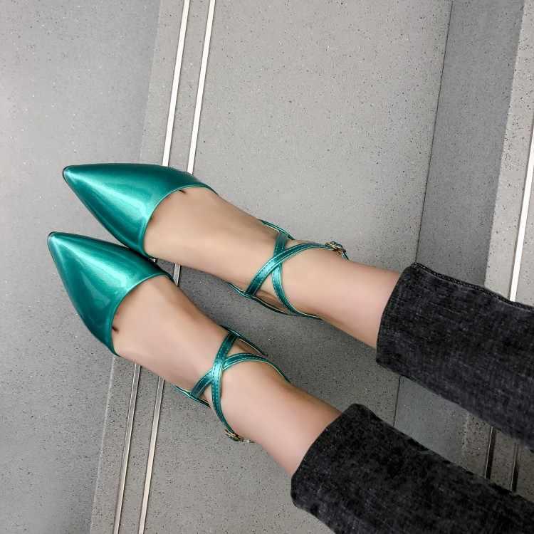 Große Größe 17 damen high heels frauen schuhe frau pumpt Sexy gekreuzte zeigte einzelne schuhe