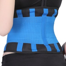 Men Women Waist Back Support Brace Belt Neoprene Waist Support Lumbar Weight Loss Gym Fitness Belt 1 PCS недорого