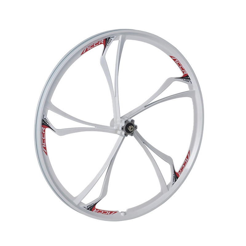 Jante en alliage de magnésium à 5 rayons de roue de 26 pouces, adaptée aux freins à disque, roue de VTT