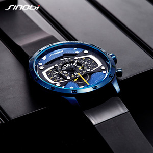 Image 2 - Relojes Hombre SINOBI Car Creative Men Watch Mens Fashion Speed Racing Sport Time Chronograph Silicone Watches Quartz Wristwatch