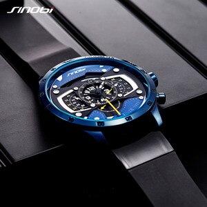 Image 2 - Relojes hombre sinobi車創造男性腕時計メンズファッションスピードレーシングスポーツ時間クロノグラフシリコーンの腕時計クォーツ腕時計