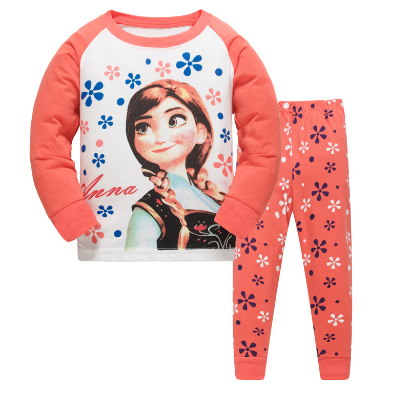 Elsa Anna Kids Pijamas Pj Baby Girl Clothes Toddler Clothes Pajamas For Girls Pyjamas Kids Pigama Spring Autumn Home Suit Night