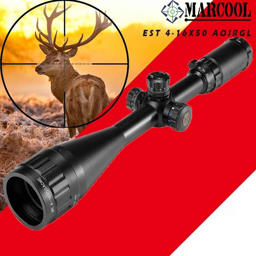 detail feedback questions about marcool est 4 16x50aoirgl riflescope  hunting tactical optical collimator aim sight rifle scope grid for airsoft  rifle