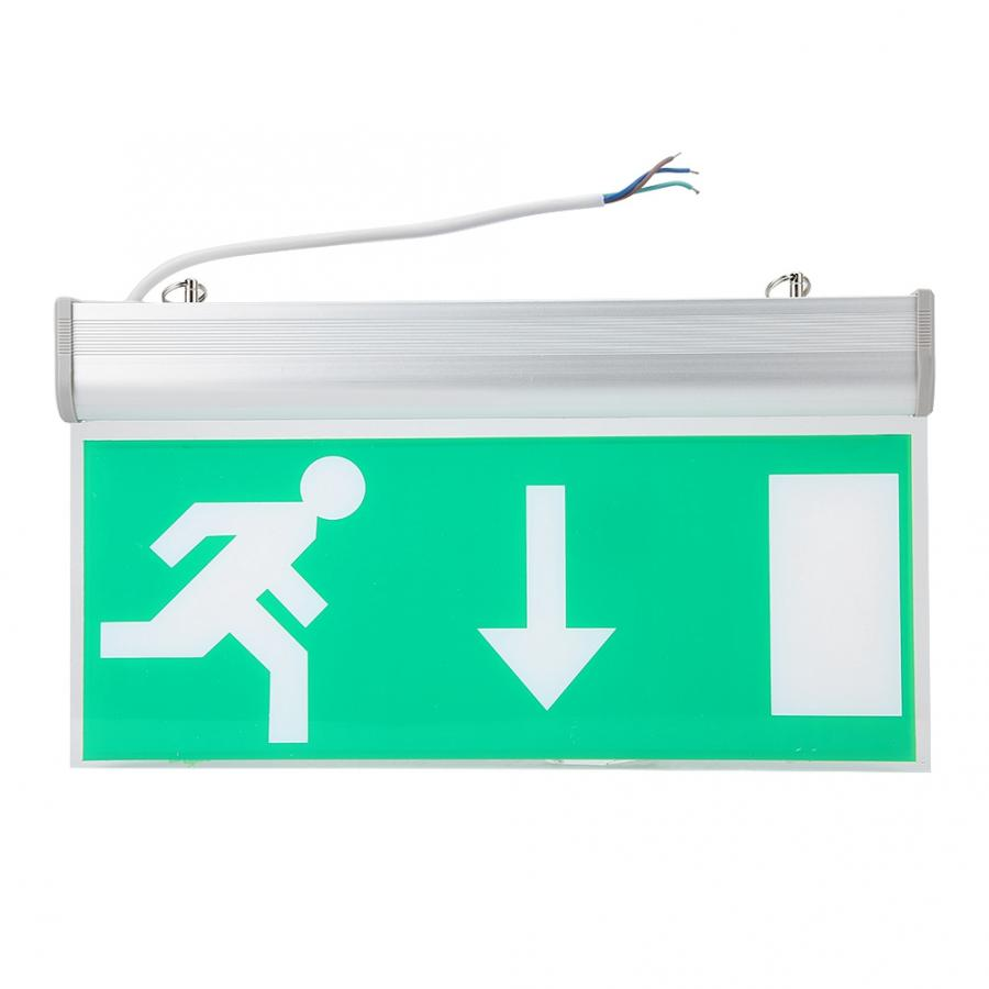 Acrylic LED Emergency Exit Lighting Sign Safety Evacuation Indicator Light 110-220V  For Hotel And Other Public Places