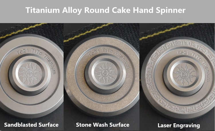 Round Titanium Alloy Hand Spinner CNC TC21 EDC Fidget Spinner High Speed 688 Bearing Autism And ADHD Toy Funny Birthday Gift Спиннер