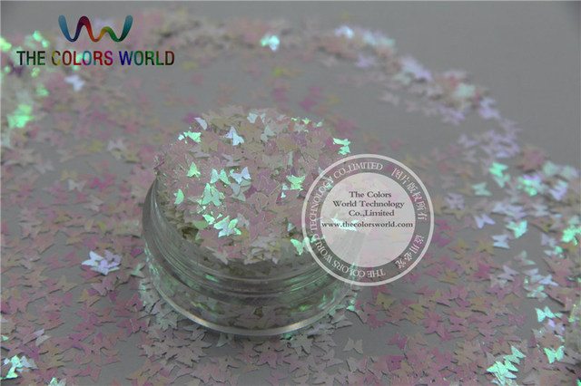 Fi 1 Erfly Bowknot Shapespearlescent Iridescent White Colors Confetti Glitter For Nail Art Or Other