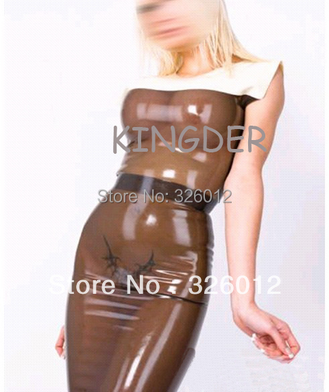 Latex kleid transparent