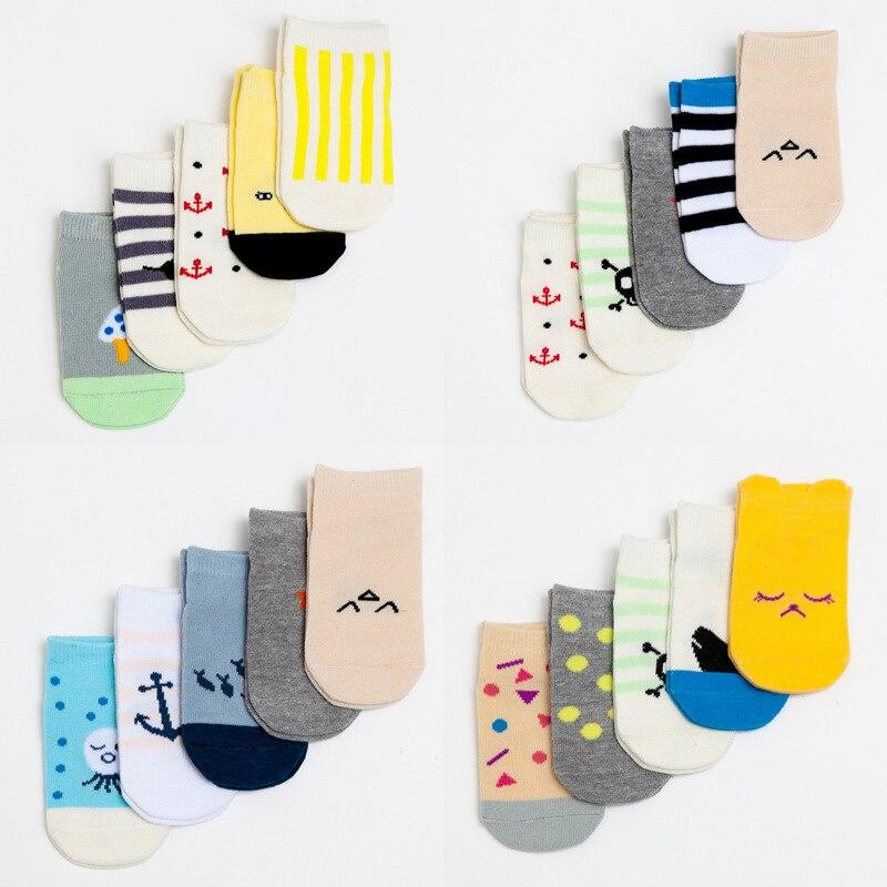 Aikway Newborn Cotton Socks Cute Cartoon Infant Boy Girl Socks Baby Floor Socks Toddler Antislip Socks Invisible Socks