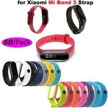 Mi Band 4 Bracelet WristStrap For Xiaomi 3 Silicone Smart Wristband Miband WristStraps Miband4 Wristbands 50Pcs