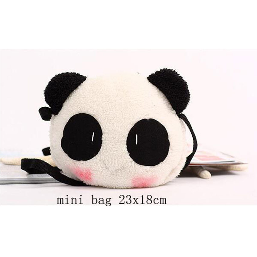 b79c878119 LJT Women Plush Panda Bag Female Cute Cartoon Animal Modeling Shoulder  Messenger Bag Mini Crossbody Bags for Women 2019 bolsos-in Shoulder Bags  from Luggage ...