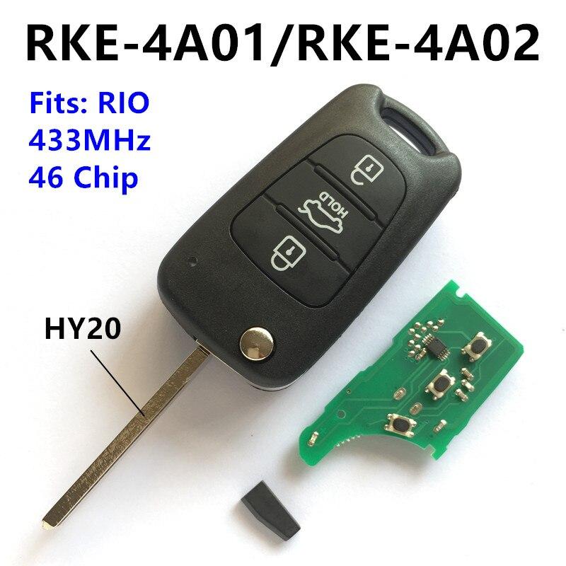 Prix pour Voiture À Distance Clé pour KIA RIO Émetteur Assy Véhicule Auto (HY20 Lame, Adapte RKE-4A01/RKE-4A02)