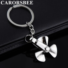 Creative Rotatable 3D Metal Zinc alloy propeller car key ring Key chain keychain Motorcycle Key Holder Keyfob for Ford Peugeot 2016 zinc alloy car logo key chain key chain key ring for bmw x 1 3 5 6 7 8 key holder free shipping