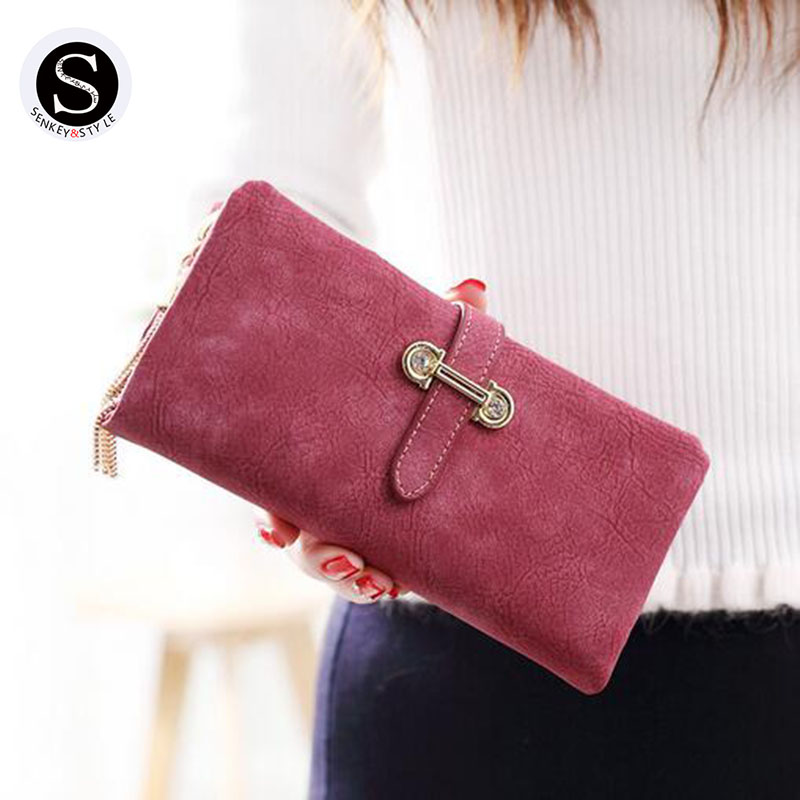 Senkey Style Womens Wallets And Purses Famous 2017 Fashion Money Clip Wallet Women Luxury Brand Matte Stitching Long Clutch naked and famous naked and famous in rolling waves 2 lp