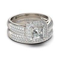 Victoria Wieck Women Engagement Ring Fashion Jewelry Pave Set 138pcs Cz Diamond Ring 14KT White Gold