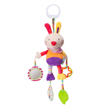 Cute cartoon animal wind chime baby toy bed trailer hanging multi-purpose teeth rubber pendant