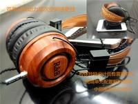 Custom Red Sandalwood Solid Wood HIFI Headset Double Unit