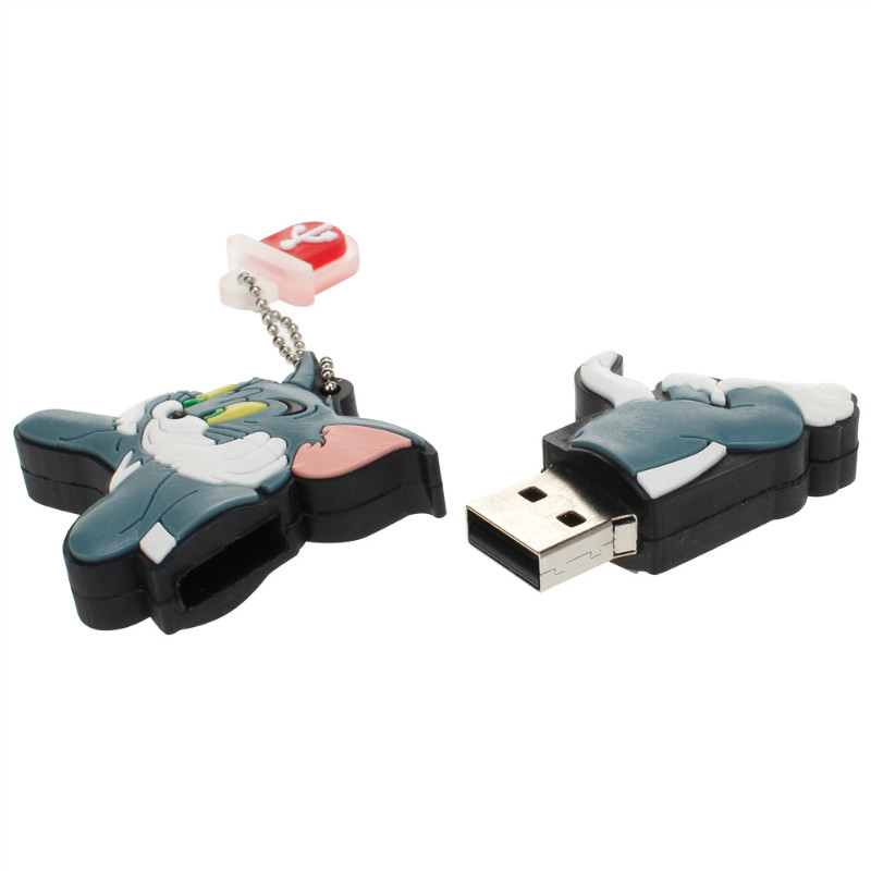 Image 3 - Classic Usb Flash Drive 32gb 64gb 128gb Tom And Jerry Pen Drive 4gb 8gb 16gb Lovely Pendrive USB 2.0 Flash Disk Free Shipping-in USB Flash Drives from Computer & Office