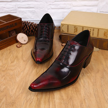 zapatos hombre formal mens shoes high heels pointed toe dress shoes male lace up patent genuine leather office oxford shoe lasts