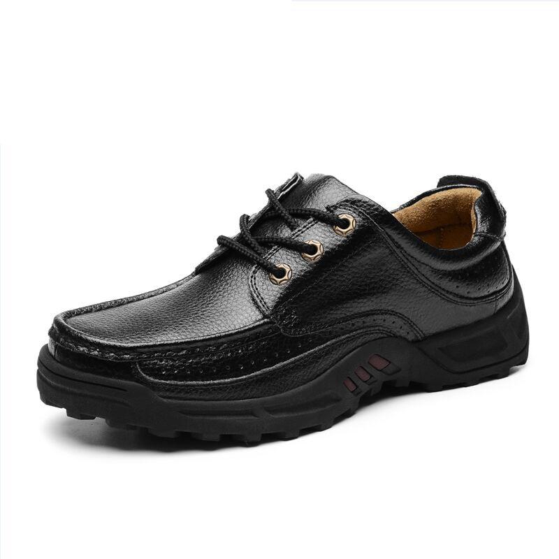 Men's Genuine   Leather   Shoes Business Dress Moccasins Flats Slip On New Men's Casual Shoes Dress Mens Business Shoes 38-48