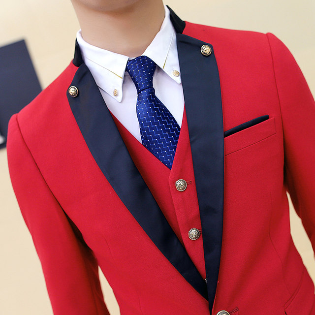 Online Shop Red Black Tuxedo Wedding Suits For Men 2016 Lastest Prom ...