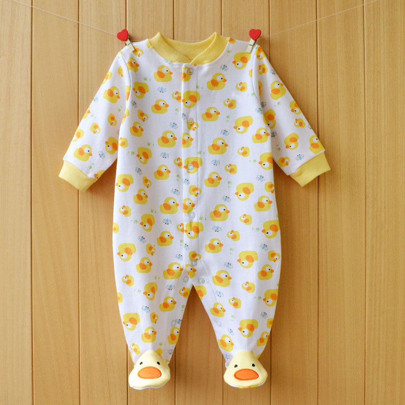 17 New spring cartoon baby rompers cotton 100% girls and boys clothes long sleeve romper Baby Jumpsuit newborn baby Clothing 10