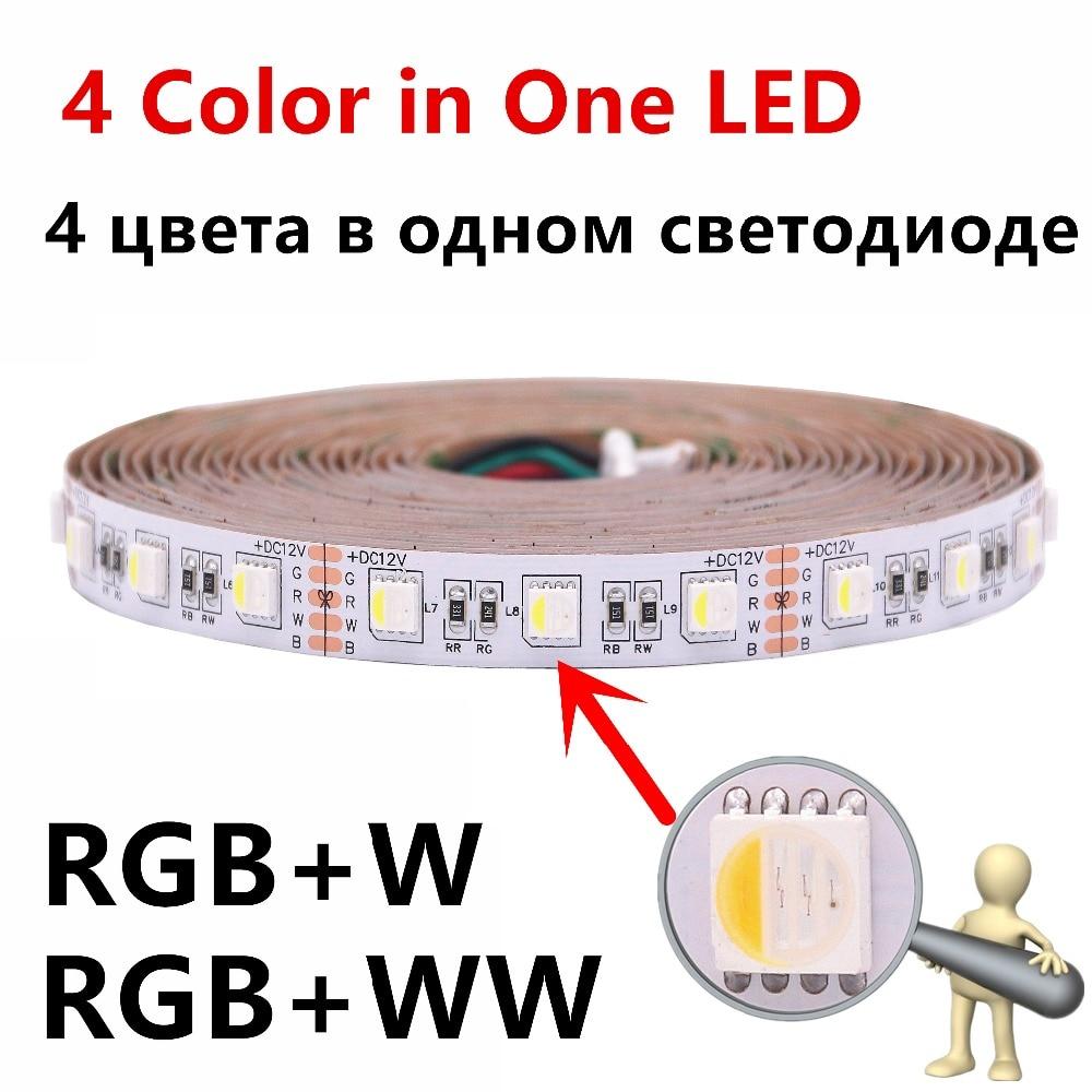 BEILAI SMD 5050 4 in 1 RGBW RGBWW LED Strip Waterproof IP65 IP67 IP20 5M 300LED DC 12V LED Light Strips Flexible Neon Tape