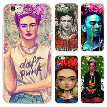 Coque Capa Frida Kahlo Transparent Soft TPU Silicone Phone Cases for iphone 7 7Plus Case for iPhone 5S 5 SE 6 6S 6Plus 4S Cover.