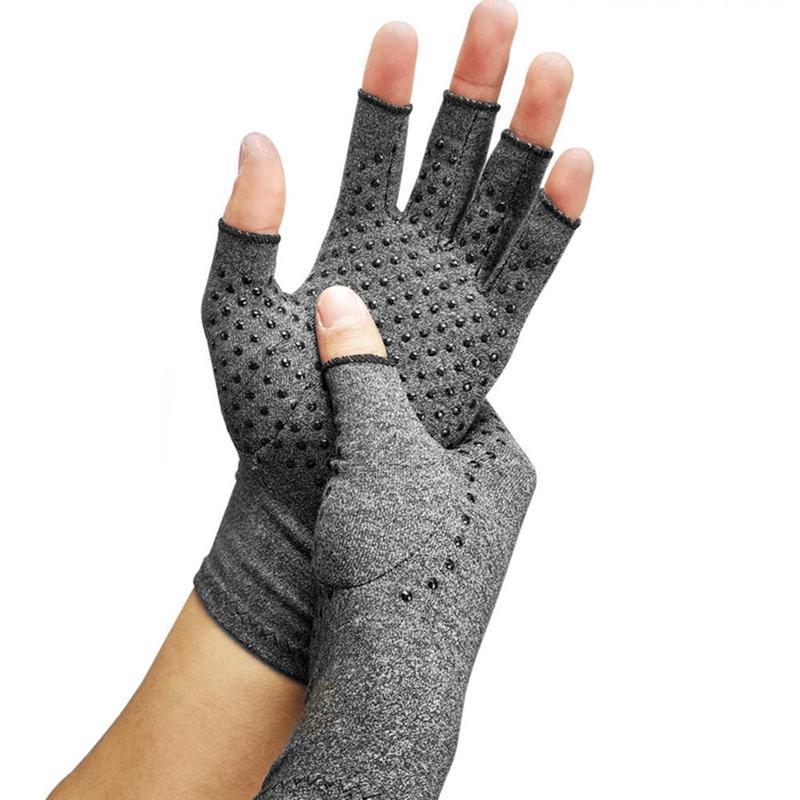 Магнитные перчатки для лечения артрита, ревматоидной боли в руке, для отдыха на запястье, спортивные защитные перчатки|Поддержка запястий|   | АлиЭкспресс