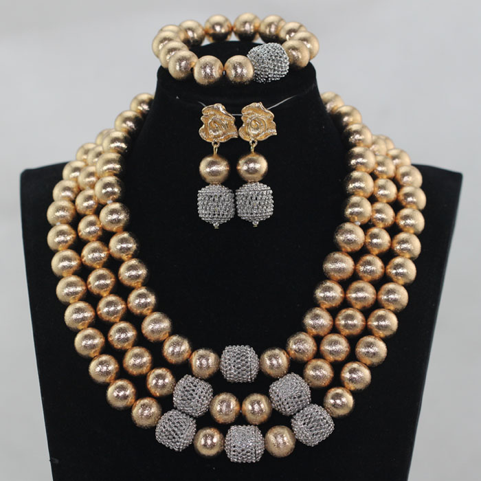 HTB1gagYX4rvK1RjSszeq6yObFXaT New Dubai Gold Women Bridal Statement Necklace Set African Nigerian Wedding Jewelry Set Party Gift Free Shipping WE090