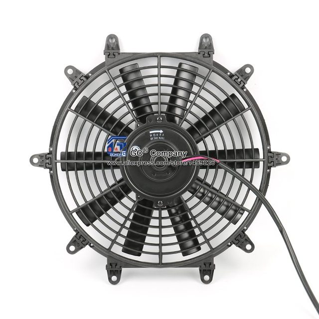 Universal 12 Inch Electric Cooling Fan Radiator Film 12v 24v For Street Hot Rod Clic Muscle Car Air Condition Condenser