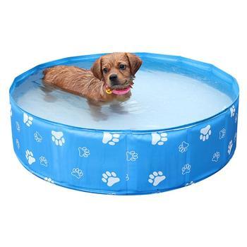 Dog Pool Pet Bathing Tub Swimming Pool Dog Cat Tub Collapsible PVC Bathtub Cat Dog Pet Bathing Pool Toy Area Universal Tub #