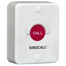 SINGCALL Wireless Calling System,Red Silica Button,Waterproof, Sun Proof, Dustproof, Shockproof, One Button Pager(APE510)