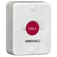 SINGCALL sistema de llamadas inalámbrico, botón de sílice rojo, impermeable, a prueba de sol, a prueba de polvo, a prueba de golpes, buscapersonas de un botón (APE510)