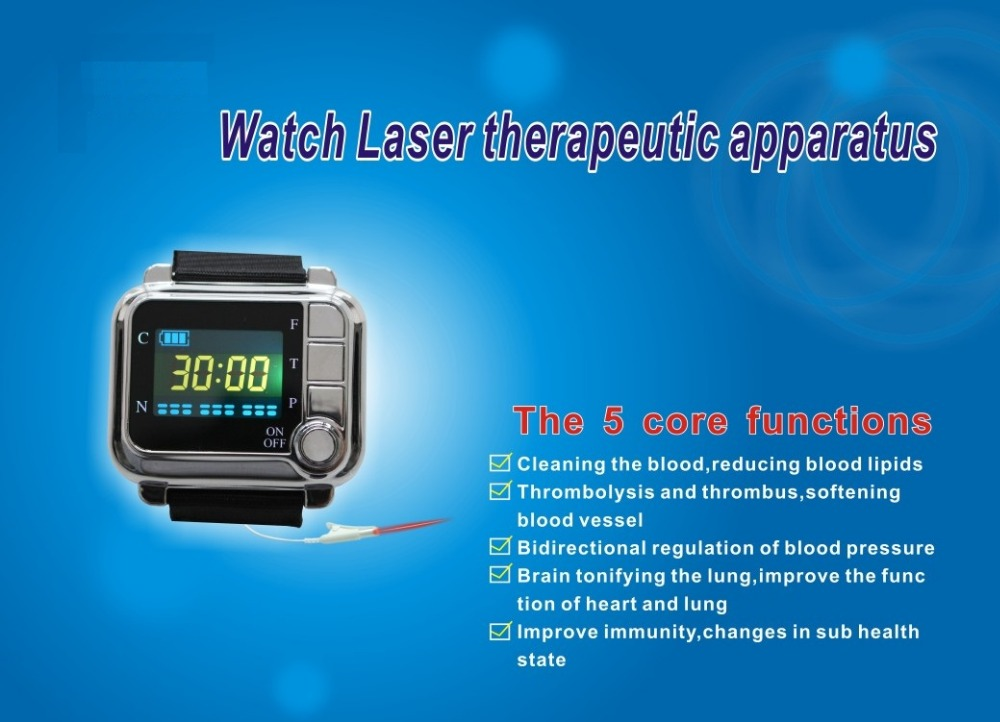Free shipping,wrist laser therapeutic blood cleaner,laser therapy blood cleaner,hot sale!! laser treatment machines for sale blood purifier low price phototherapy wrist type laser