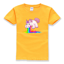 kids short sleeve brand unicorn t shirt kids 2018 summer funny streetwear animal homme cotton casual t-shirt boy girls clothes