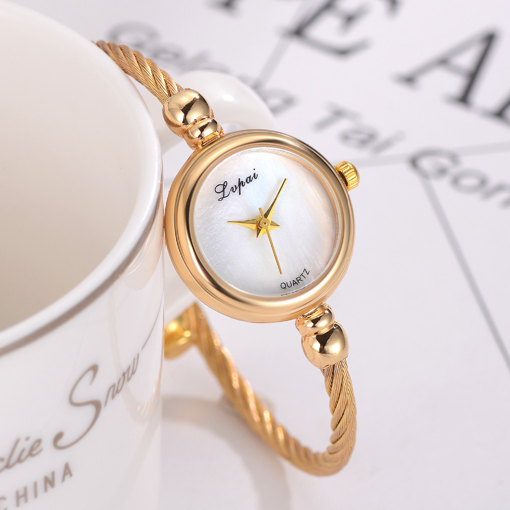 Lvpai Women Bracelet Watch Luxury Top Brand Stainless Steel Gold Silver Ladies Wristwatch Female Clock Quartz Watch Gift Hours rhinestone sk top luxury brand steel quartz watch fashion women clock female lady dress wristwatch gift silver gold motre femme