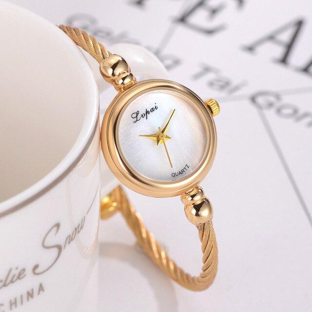 Lvpai Women Bracelet Watch Luxury Top Brand Stainless Steel Gold Silver Ladies W