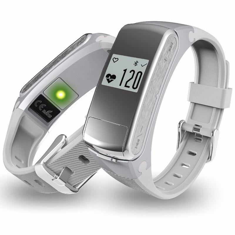 imágenes para F50 Auricular Bluetooth 4.0 Pulsera Inteligente Rastreador de Ejercicios Pulsera Tarjeta del Micro-SD Monitor de Ritmo Cardíaco Contestar Llamadas