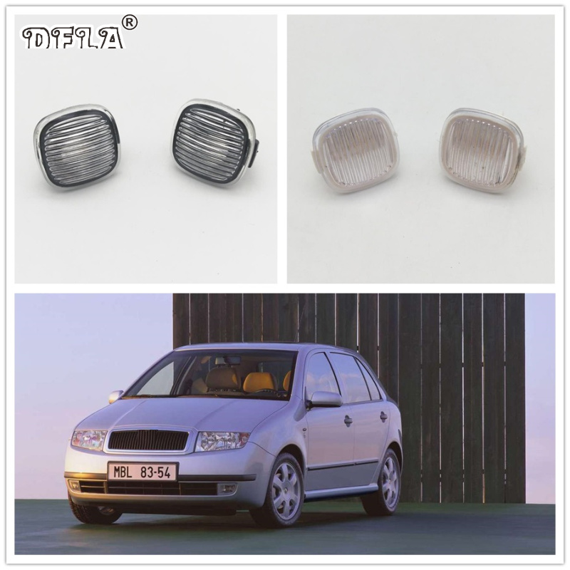 2pcs For Skoda Fabia MK1 1999 2000 2001 2002 2003 2004 Car-Styling Side Marker Turn Signal Light Lamp Repeater 2pcs for vw sharan 2001 2002 2003 2004 2005 car styling side marker turn signal light lamp repeater